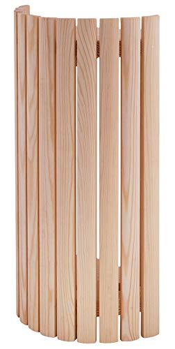 WelaSol ® Sauna Lampenschirm 914 / Lampenschutz/Saunalampe - Blendschirm aus Holz für blendfreies Licht in der Sauna/für Wand- oder Ecke Einbau