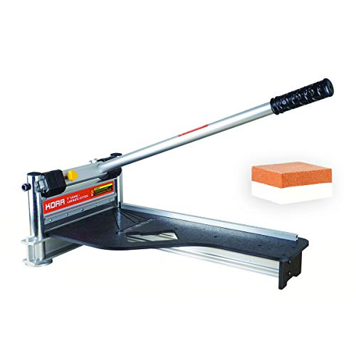 Norske Tools KORR KMAP001 9 inch Laminate Flooring and Siding Cutter with Heavy Duty Fixed Aluminum Fence and Built-in Precision Angled Miter Settings with BONUS Honing Stone