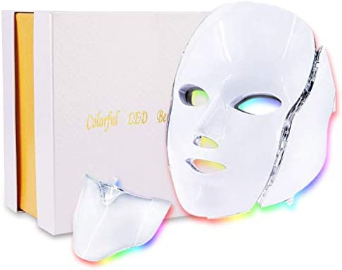 Led Face Mask 7 Color Photon Blue Red Light Therapy Skin Rejuvenation Facial Skin Care Mask product image