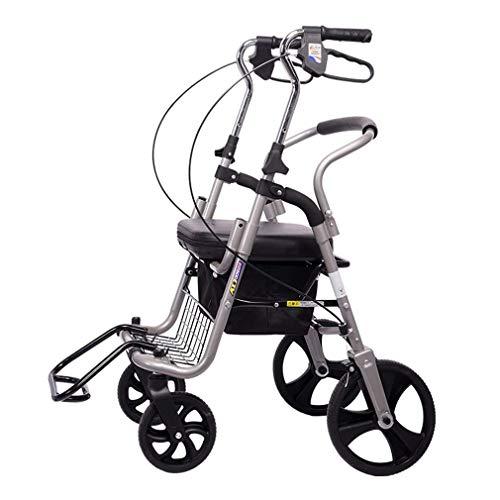 Z-SEAT Drive Medical Wheel Walking Aid, Andador con Ruedas de Postura Vertical, Andador de Aluminio superligero, Andador con Andador portátil de Movilidad con Andador de 4 Ruedas par