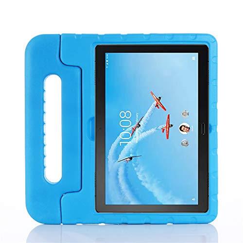 ZiHang Funda Infantil Lenovo Tab P10 (TB-X705F) / M10 (TB-X605F) 10.1, Carcasa Niño Antigolpes con Asa Convertible Tapa de Soporte, Funda Bebé Ligera para Lenovo Tab P10 / M10 10.1 (Azul)