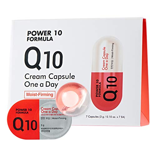 It S SKIN Power 10 Formula Q10 Cream Capsule One a Day 3g 7 Count - Antioxidant & Anti-Aging, High Concentration 2 in 1 Sleeping Cream Mask, Cream Ball in Serum, 1 Week Home Skin Care