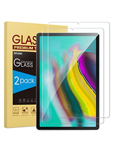 [2-Pack] SPARIN Screen Protector Compatible with Samsung Galaxy Tab S6 / Tab S5e 10.5 Inch , 9H Hardness Tempered Glass, S Pen Compatible