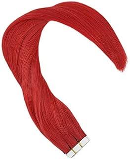 Hetto 12 Pulgada Pelo Humano Natural Tape in #Rojo Brasileno Remy Pelo 20g/10pcs Extensiones de Cabello Humano Naturales Adhesivas