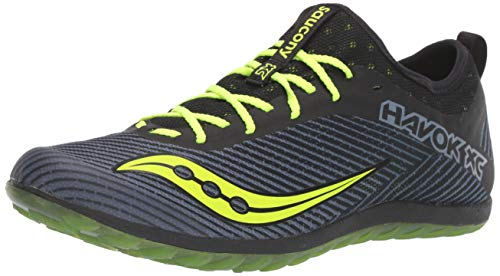 Saucony Men's Havok XC2 Flat Track and Field Shoe, Black/Citron, 8.5 Medium US