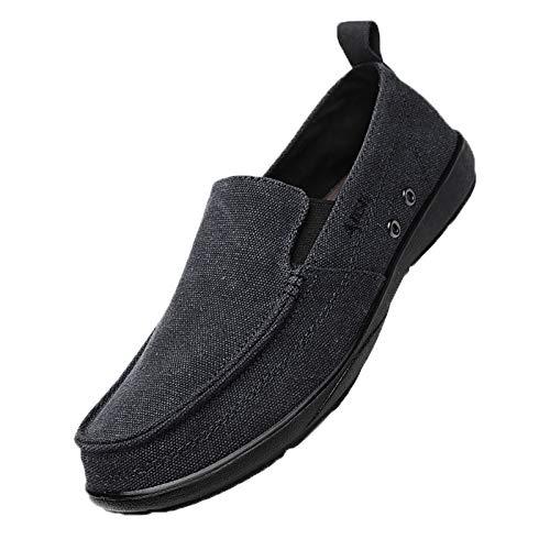 Xmiral Canvas Schuhe Freizeitschuhe Herren Slipper Erwachsene Sommer Halbschuhe Faule Schuhe(41,Schwarz)