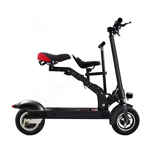 Y&XF Bicicleta de Scooter eléctrico Plegable, Mini Parent Child Scooter portátil para automóvil/Velocidad máxima 90 km/h/Herramienta de Viaje Adecuada Ciclismo Eléctrico Eléctrico Cochecito,80~90km