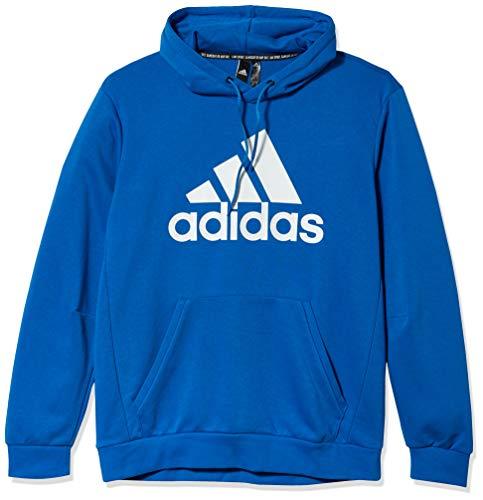 adidas Herren Must Haves Badge of Sport Hoodie, Herren, Sweatshirt, Mh Bos Po Ft, grau, Small/Long
