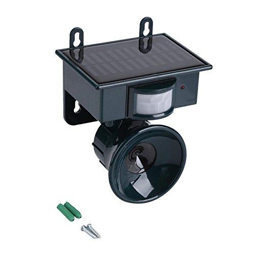Jingyi Repelente ultrasónico, Sensor de Movimiento PIR con energía Solar Repelente ultrasónico de plagas Pájaro Perro Gato Zorro Ratón Cazador Repelente ultrasónico de Aves