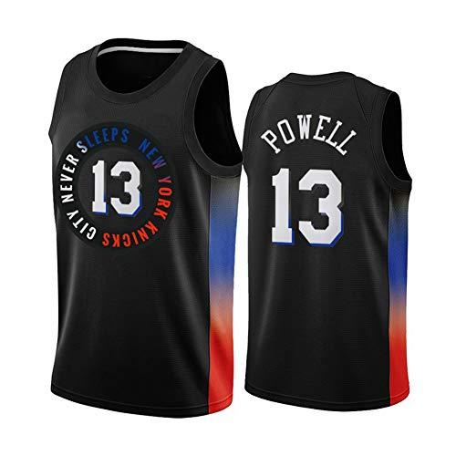 Z/A New York Knicks Miles Powell # 13 Ropa De Baloncesto Jersey Men's Sportswear Entrenamiento Deportivo Sudadera Suelta Chaleco De Manga Corta Top Camiseta,M