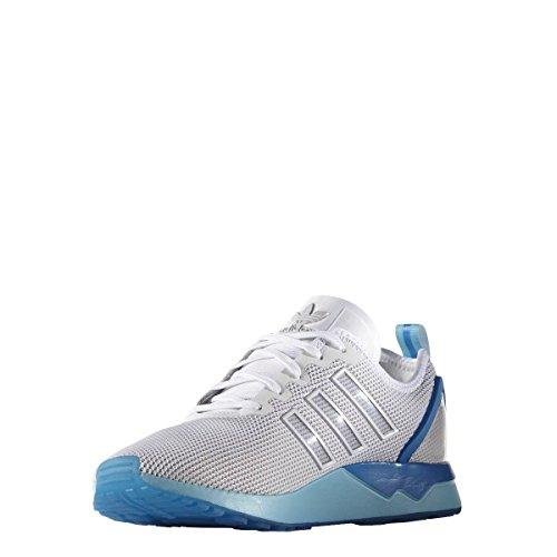 adidas ZX Flux ADV, Scarpe Running Uomo, Bianco Ftwrr White Ftwrr White Blue Glowftwrr White Ftwrr White Blue Glow, 44 2/3 EU