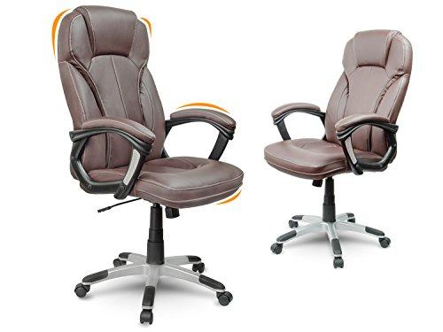Bürostuhl Chefsessel Drehstuhl Kunstleder - braun Eago EG-222