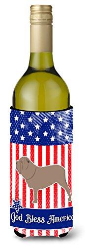 Caroline tesoros del Estados Unidos patriótica Neapolitan Mastiff para botella de vino bebida Insulator Hugger, 750ml, Multicolor