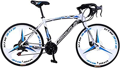 Rneotnnk Mountain Bike?700c 21Speed Disc Brakes?29-inch Wheel?Commuters Aluminum Full Suspension Road Bike (Black2)