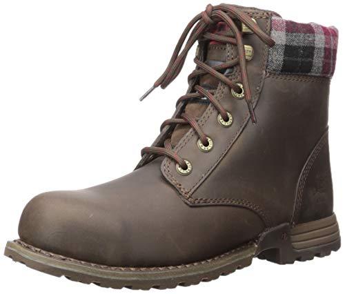 Caterpillar Women's Kenzie Steel Toe Work Boot, Bark, 9.5 M US