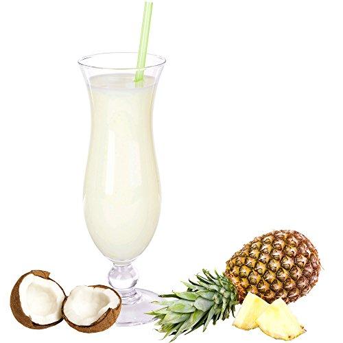 Pina Colada Geschmack Eiweißpulver Milch Proteinpulver Whey Protein Eiweiß L-Carnitin angereichert Eiweißkonzentrat für Proteinshakes Eiweißshakes Aspartamfrei (1 kg)