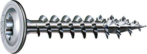 SPAX Holzbauschraube, 8,0 x 50 mm, 50 Stück, T-STAR plus, Tellerkopf, Vollgewinde, 4CUT, WIROX P5J, 0251720800505
