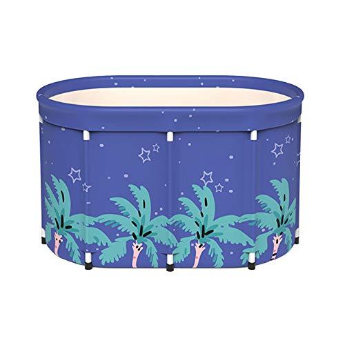 SYN-GUGAI Badewanne, Schwimmbad, Badewanne, tragbare Badewanne, Faltbare Separate Badewanne im Familienbad, Einweich-Stehbadewanne für Duschkabine, effiziente Aufrechterhaltung der Temperatur,A