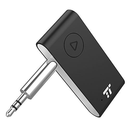 TaoTronics Récepteur Bluetooth 4.2 sans Fil avec 15h d'Autonomie, Allumage & Reconnexion Automatiques, Adaptateur Bluetooth 4.2 pour Écouteurs/Enceintes Filaires, Adaptateur Audio Mains-Libres