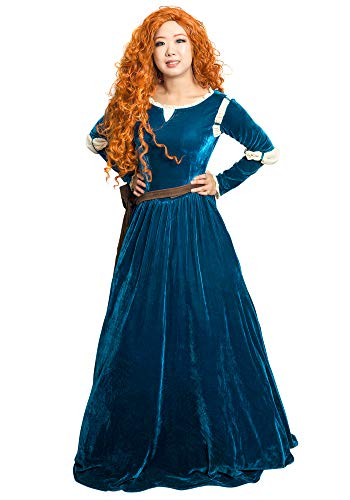 Brave Princess Gown Merida Cosplay Dress and Quiver