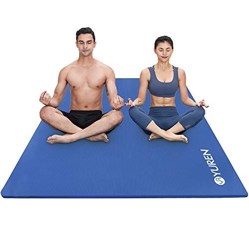 RYTMAT Große Yogamatte 200x130cm/120cm Extra Breite Gymnastikmatte 15mm/10mm Dicke NBR Fitnessmatte für Pilates Gymnastik Training Bodenmatte