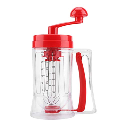 Find Bargain Manual Batter Dispenser, Household Hand-held Cupcake Mixer Pancake Dispenser Blender Ma...