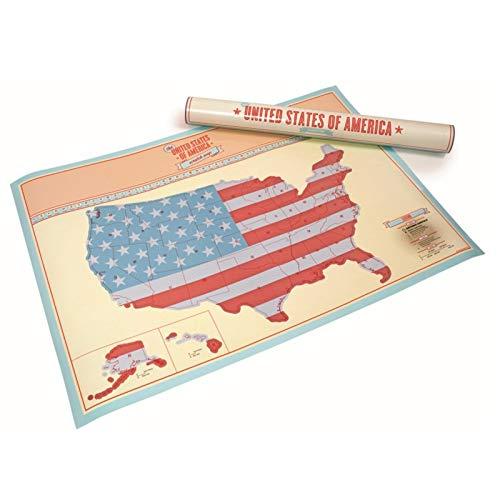 Mapa para rascar de tamaño grande de Estados Unidos, mapa de viaje para regalos de viajero, mapa personalizado de pared, oficina, decoración del hogar