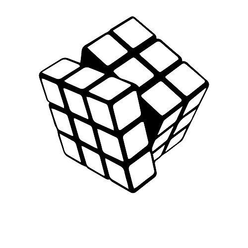 Cartoon Rubik Cube Vinyl Kitchen Wall Stickers Wall Decals Decoration 58X60Cm