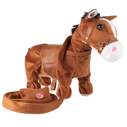 Happy Trails Animated Plush Horse Toy– Interactive Pony That Walks on Leash  Sings a Cowboy Song & Dances  Soft & Snuggly Fur  Stuffed Farm Animal
