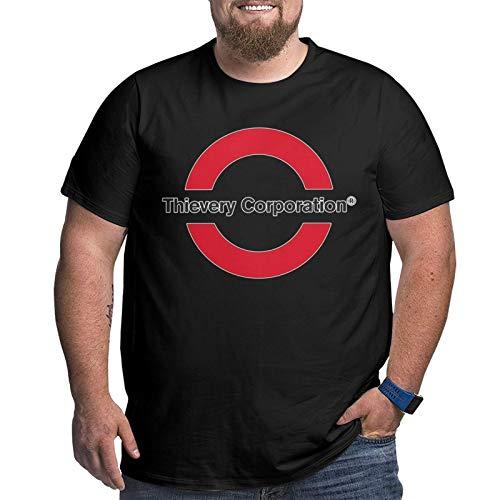 Thievery Corporation Men's Graphic Cotton Short Sleeve T-Shirt Black Xx-Large