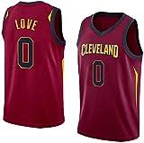 XZWQ Camisetas De La NBA para Hombre: Cleveland Cavaliers # 0 Kevin Love Camisetas Unisex Edición Jersey Malla Bordada Baloncesto Swing Camiseta para Hombre,Rojo,XL