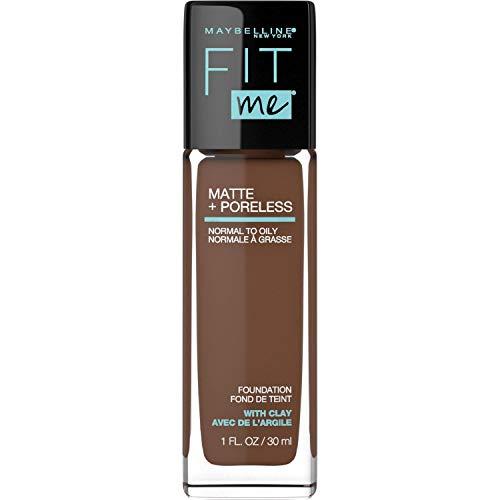 Maybelline Fit Me Matte + Poreless Liquid Foundation Makeup, Java, 1 fl. oz. Oil-Free Foundation