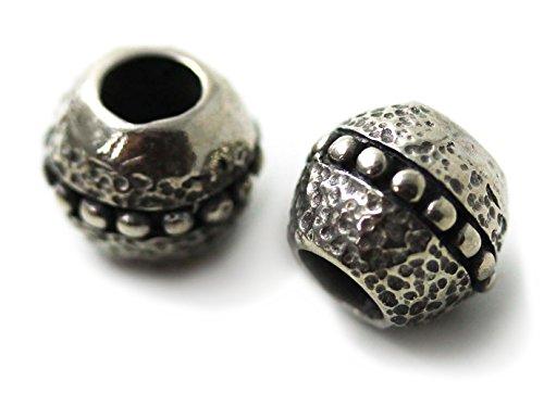 Pewter Norse Viking Celtic Beard Beads Rings, Dwarven Dreadlock Pirate Medieval Hair Beads, Pagan Jewelry