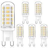 MLlichten 4W Bombillas LED G9 4000K Blanco Natural, Equivalente 30W 40W Halógeno, No Regulable Sin Parpadeo G9 LED Bombillas, AC220-240V G9 Lámpara LED, Ángulo de Luz de 360°, Paquete de 5