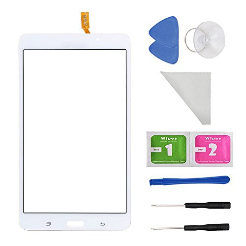 White Touch Screen Panel Digitizer Glass For Samsung Galaxy Tab 4 SM-T230 T230NU 7' inch With (Adhesive) and Tool