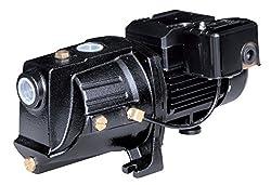 commercial Acquaer SJC075 3/4 HP Twin Bolt Cast Iron Shallow Well Jet Pump, Black shallow well jet pump