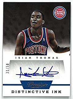 Isiah Thomas signed Detroit Pistons 2013-14 Panini Prestige Basketball Card #33- LTD 31/50 - Panini Certified