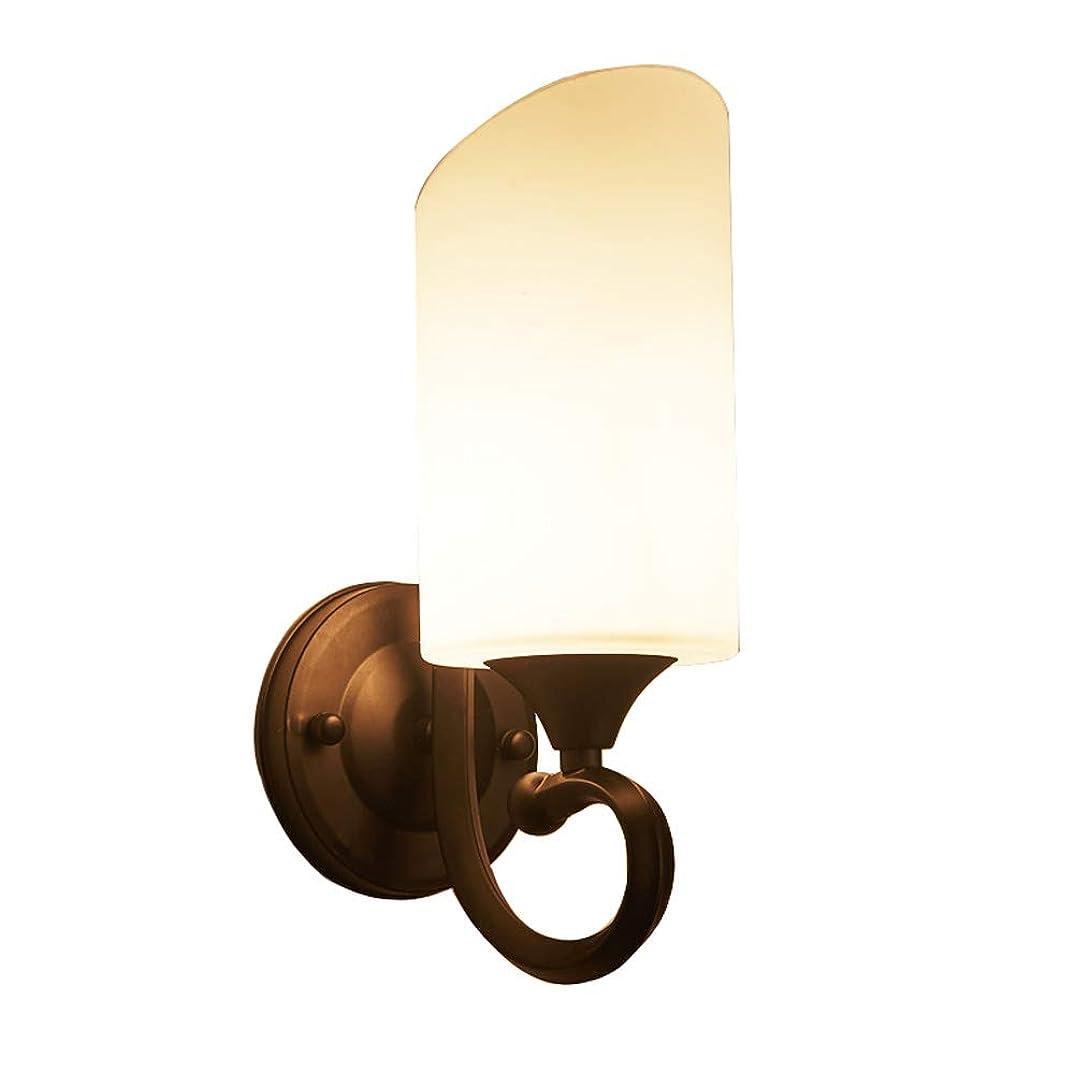 歌詞上級干渉ラオハオ E27 LEDの鉄の壁ランプ、アメリカのレトロなガラスの黒い壁ランプの枕元の居間の調査の廊下の壁ライト創造的な人格階段通路の寝室、居間の寝室の廊下のための壁の壁取り付け用燭台 ウォールウォッシャー