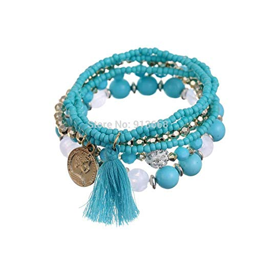 DMUEZW Charm Armbanden Voor Vrouwen Handgemaakte Zaad Kralen Sieraden Multilayer Wikkel Armbanden & Bangles Vintage Pulseras