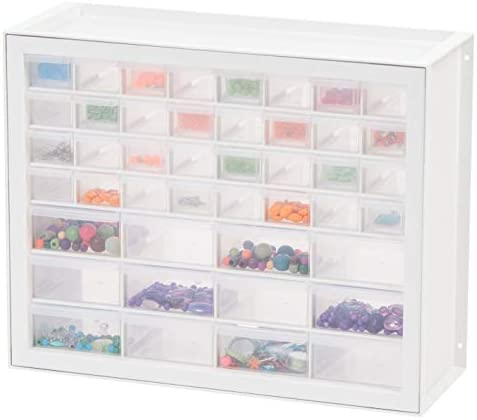 IRIS USA, DPC-64, 64 Drawer Sewing and Craft Parts Cabinet, White