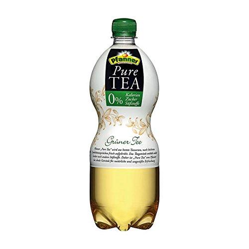 Pfanner Bio Pure Tea Grüner Tee, 0 % Kalorien/Zucker/Süßstoffe - 1L - 6x inc. EINWEG Pfand
