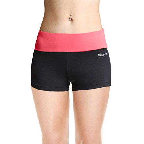 Baleaf Women's High Waist Workout Yoga Running Booty Shorts Inner Pocket Dubarry Size S