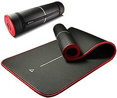 PROIRON Mata do jogi i pilates, mata do ćwiczeń, ochrona krawędzi antypoślizgowa mata, bardzo gruba pianka mata, NBR...