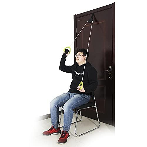REAQER Cuerda para rehabilitación de hombro Hombro Polea Ideal para Ejercicio y Prevención de Lesiones