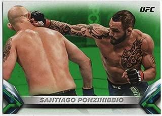 2018 Topps UFC Knockout Green Parallel #95 Santiago Ponzinibbio Welterweight SER/199