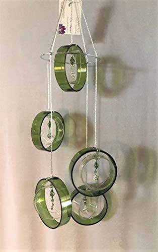 GlassAct of CT Glass Windchime with Celtic Knot
