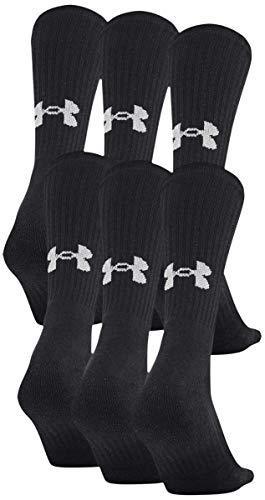 Under Armour Unisex Kinder Trainingssocken aus Baumwolle, 6 Paar Socken, Unisex Kinder, Socken, U675, schwarz 2, Shoe Size: 0-4