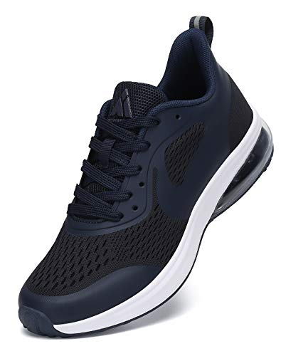 Mishansha Laufschuhe Herren Sportschuhe Atmungsaktiv Damen Air Walkingschuhe Gym Fitnessschuhe Blau 42