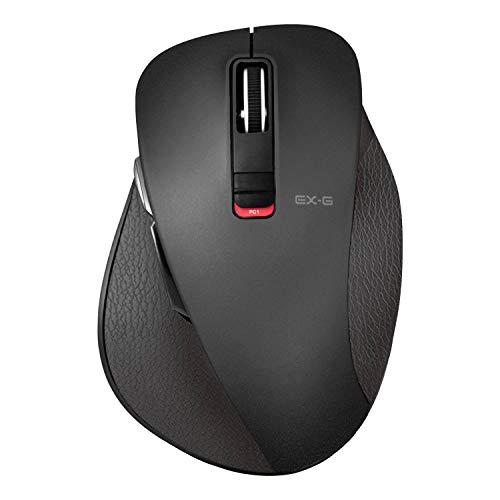 エレコム マウス Bluetooth Mサイズ 5ボタン (戻る・進むボタン搭載) BlueLED 握りの極み ブラック M-XGM10...