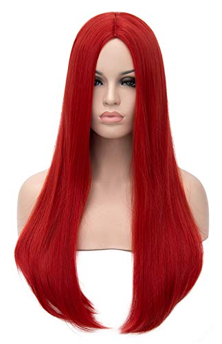 Mersi Long Red Wigs for Women Costu…